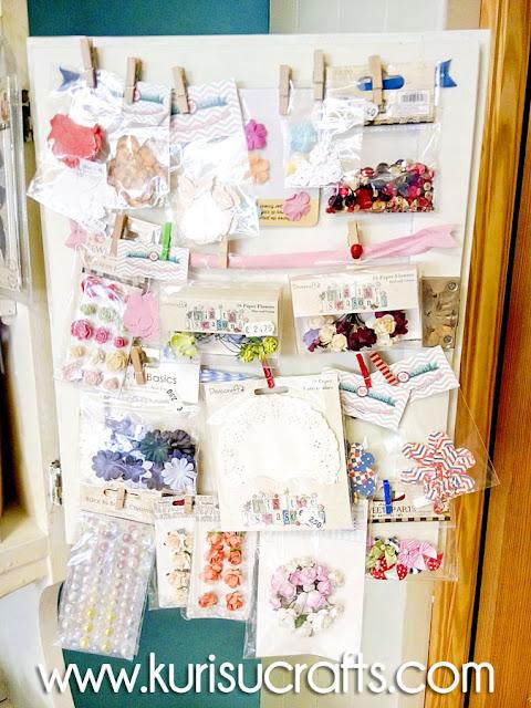 Flores y adornos para scrapbooking en Kurisu Crafts
