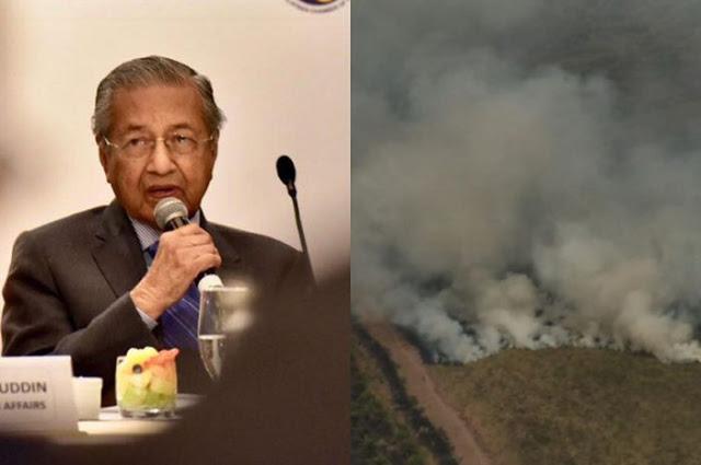 Mahathir Minta Wartawan Tanya Jokowi Mengapa Tolak Bantuan Malaysia Padamkan Karhutla