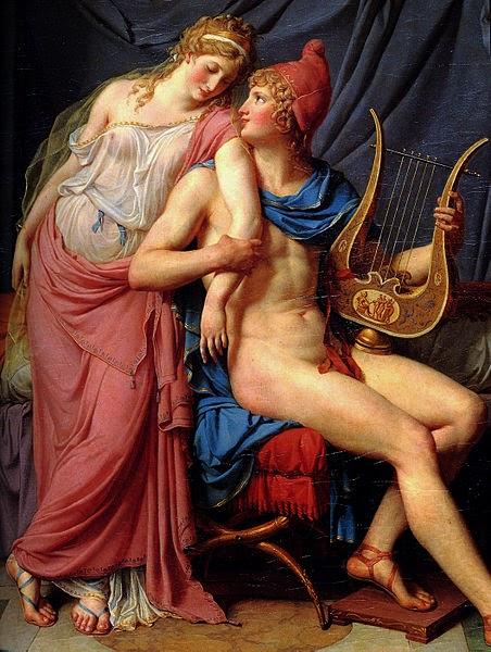 Páris e Helena - David, Jacques-Louis e suas principais pinturas ~ Representante do neoclassicismo