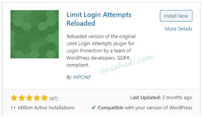 Mengamankan WordPress Menggunakan Limit Login Attempts Reloaded