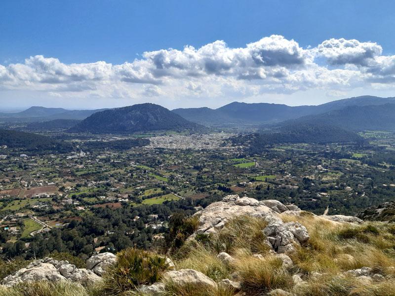 Vista su Maiorca dalle montagne intorno Pollenca