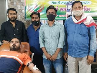 भाजपा अल्पसंख्यक कार्यकर्ताओं ने किया रक्त दान    #NayaSaberaNetwork