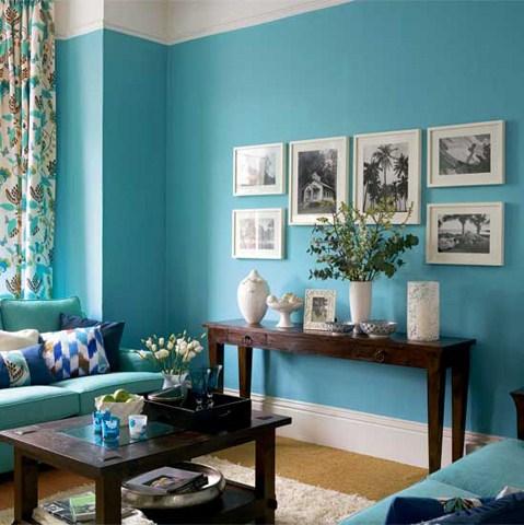 gambar hiasan ruang tamu tema turquoise ~ cikgunorazimah