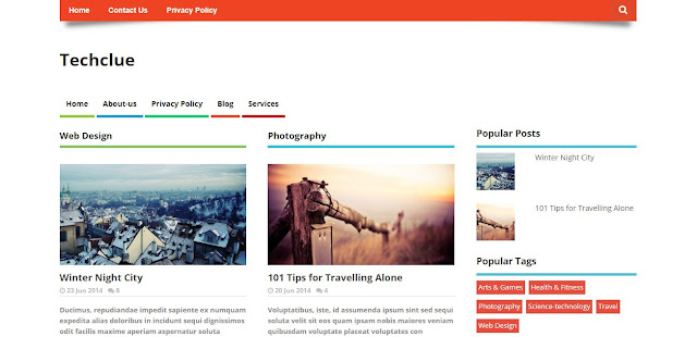 Techclue Blogger Template