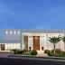 Fachada de casa contemporânea branca com hall de entrada imponente!