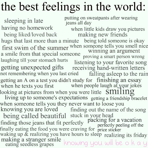 One day at a time: The best feelings in the world