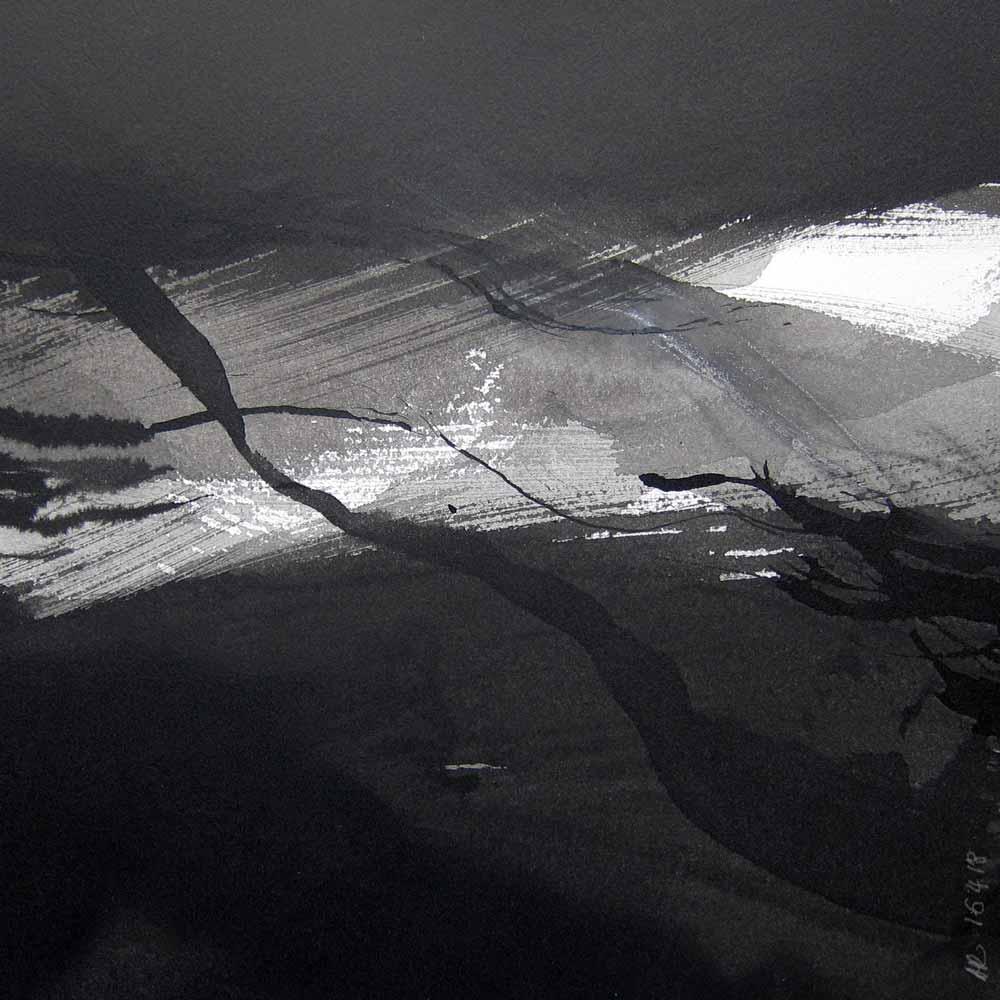 Encre, lavis et crayon sur papier Arches, 16.4.18 | © Annik Reymond