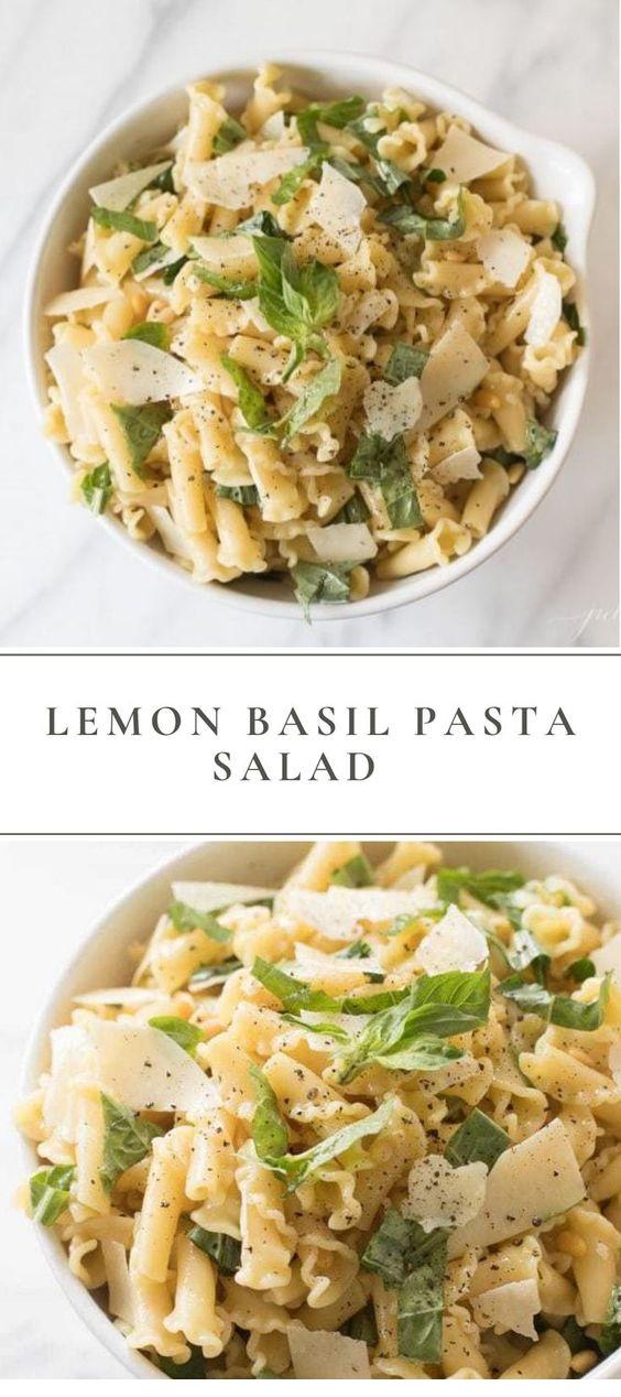 Basil Lemon Pasta Salad