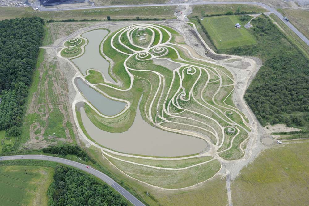 A Guide to Visiting Northumberlandia - birds eye view