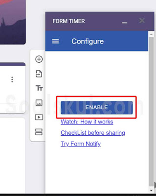 langkah 9 setting timer gform dengan form timer