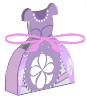 Sofia the First, Free Printable Dress Box.
