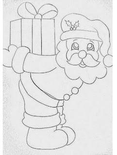 desenho de papai noel para pintar