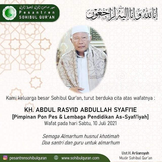 Innalilahi.. Telah Meninggal dunia Ulama KH Abdul Rasyid Abdullah Syafi'ie..