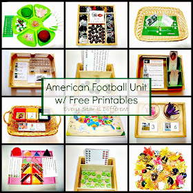 American Football Unit with Free Printables.