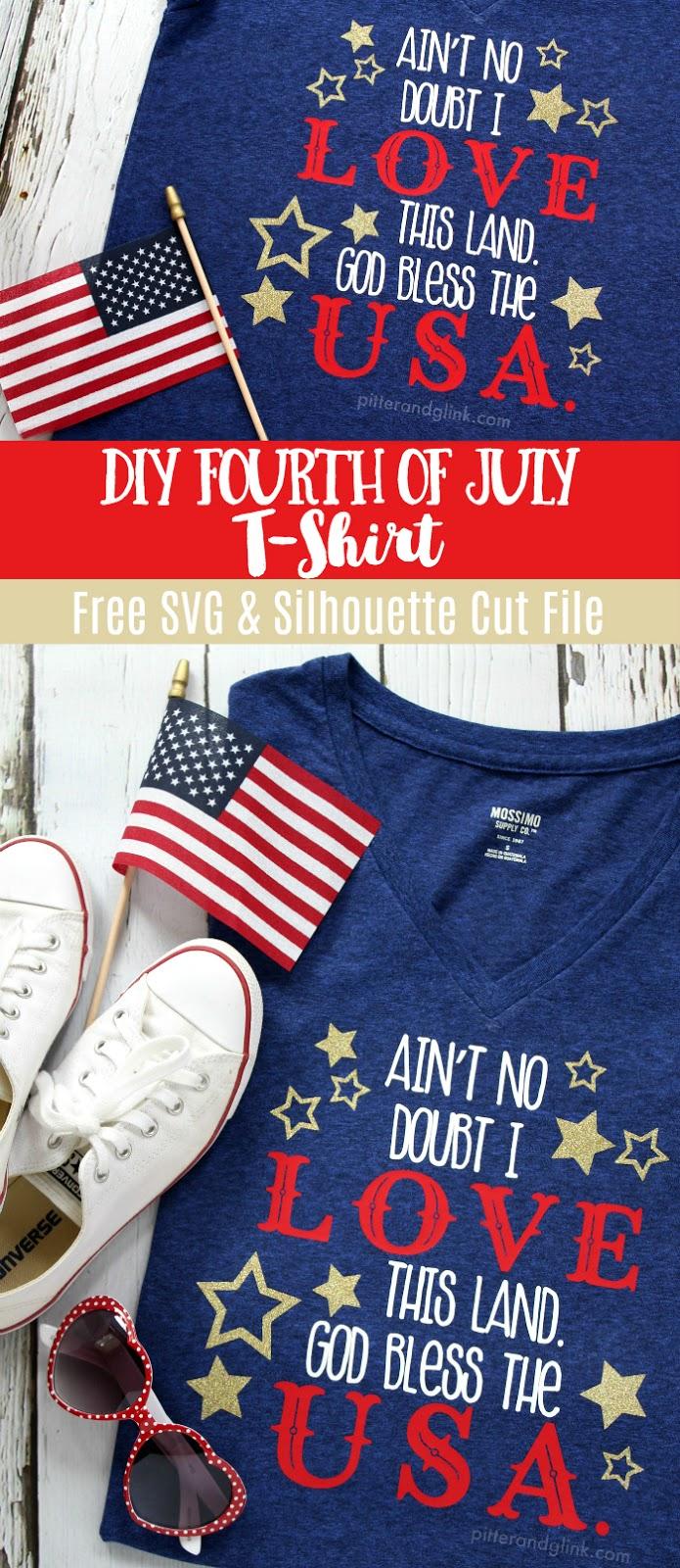 DIY Fourth of July T-shirt + Free Cut File