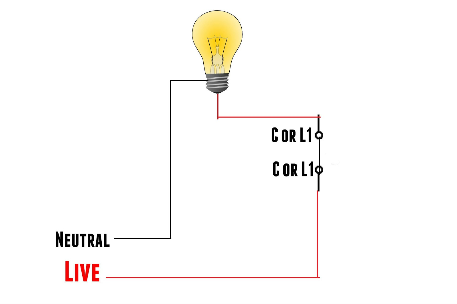 One Way Switch Wiring Diagram One Way Light Switch Wiring Diagram