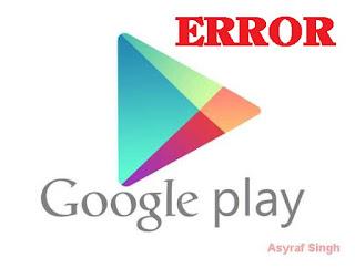 error Google Play Store on Lenovo Vibe Z K910.