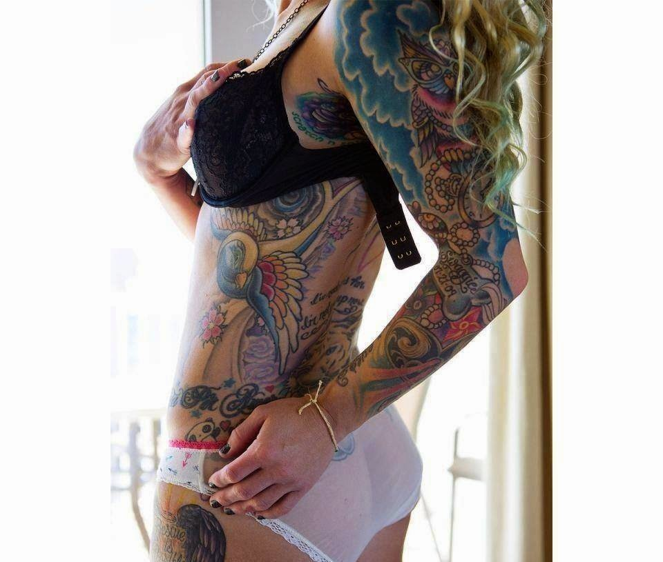 Unique and sexy tattoo on the hottest female body 2015