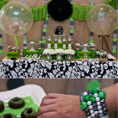 A Spellbinding Green & Black Halloween Cocktail Party