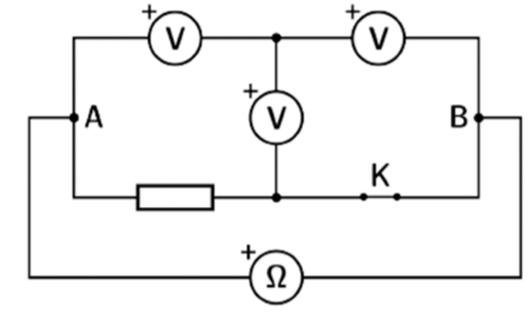 Mạch điện cho câu 3