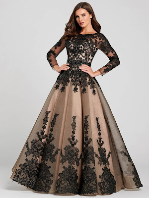 Ellie Wilde Ball gown Black-nude prom dress