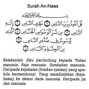 Surah 3 Qul Terjemahan Dan Fadhilatnya