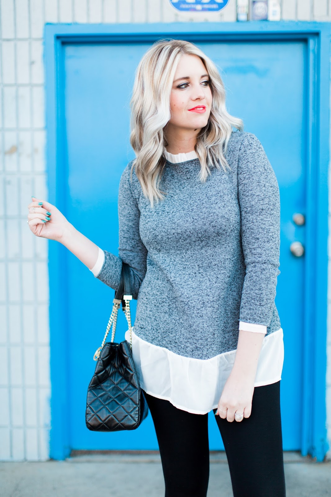 Ruffle Sweater, Modest Outfit, Utah Fashion Blogger