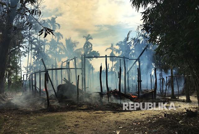 Militer Myanmar Bangun Pangkalan di Bekas Masjid Rohingya yang Dihancurkan