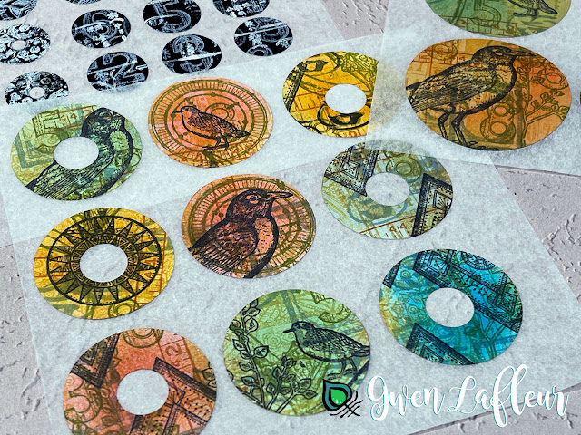 DIY Stamped Stickers Tutorial Finished Project - Gwen Lafleur