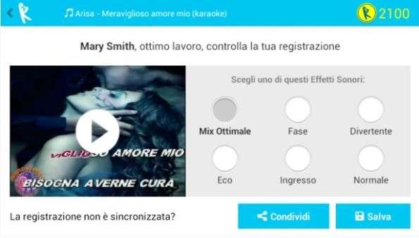 Cantare con Yokee™; app per Karaoke che consente di cantare canzoni su YouTube, per Android e iOS