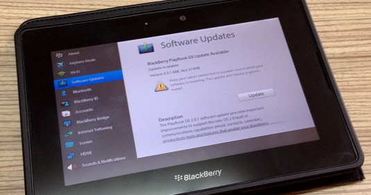 How to Update BlackBerry PlayBook OS Software or Upgrade Firmware