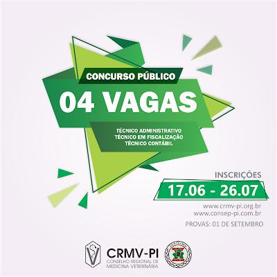 edital CRMV-PI Concurso Público 2019
