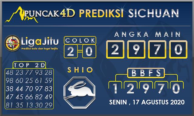 PREDIKSI TOGEL SICHUAN PUNCAK4D 17 AGUSTUS 2020