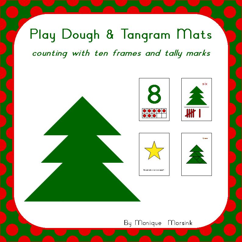 Christmas Tree Tangram: Colorful Tangrams: Valentine's Day