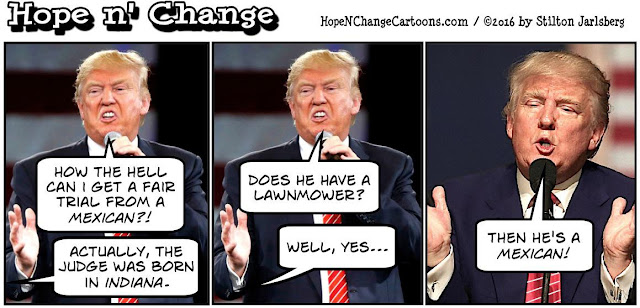 obama, obama jokes, political, humor, cartoon, conservative, hope n' change, hope and change, stilton jarlsberg, trump, judge, mexican, trump university