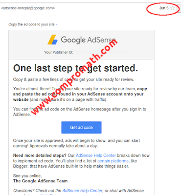 My application for Google Adsense