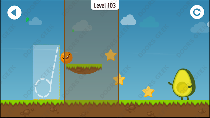 Where's My Avocado? Level 103 Solution, Cheats, Walkthrough, 3 Stars for Android, iPhone, iPad and iPod