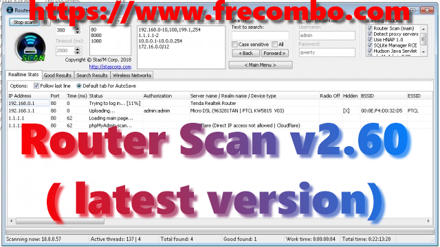 Router Scan v2.60 by Stas'M  ( latest version)