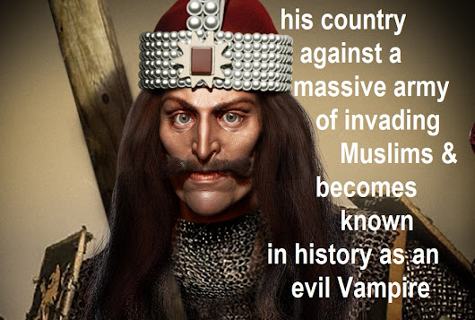 Vlad the Impaler Tepes Dracula was a Christian leader Prince defending his country against massive Muslim invasion impaled fear religious discrimination vampire blood