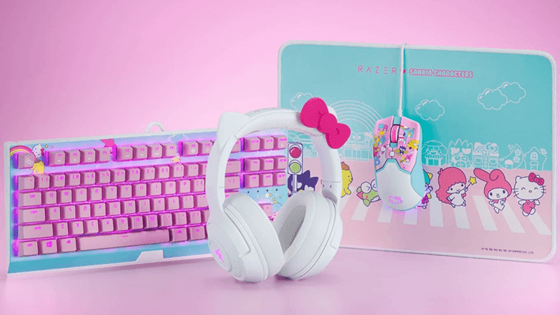 Razer launched Hello Kitty gaming headphones, keyboard, and mouse