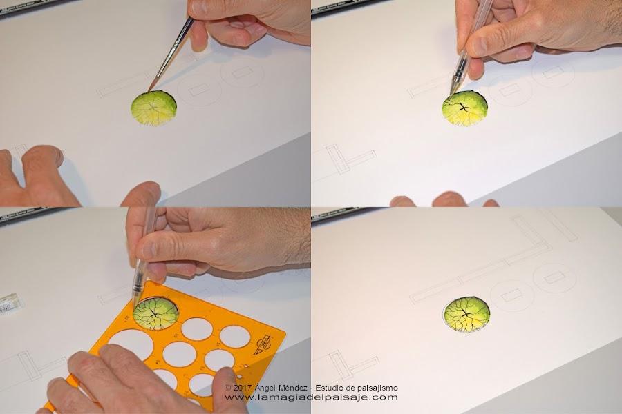 dibujo con rotuladores acuarelables