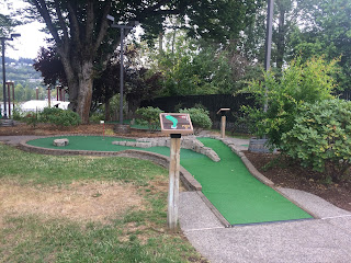 Mini Golf course at Oaks Amusement Park in Portland, Oregon, USA. Photo by Laura Emmerson