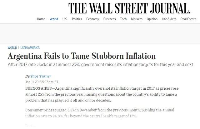 The Wall Street Journal criticó duramente al gobierno de Mauricio Macri