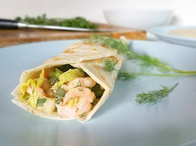 These Shrimp Salad Wraps would make the perfect picnic lunch or quick dinner! By adding purslane to the shrimp salad and wrapping it in a pliable grain-free, Paleo tortilla, these Shrimp Salad Wraps have been made as nutritious as possible! Gluten-free, grain-free, dairy-free, low-carb and Paleo.
