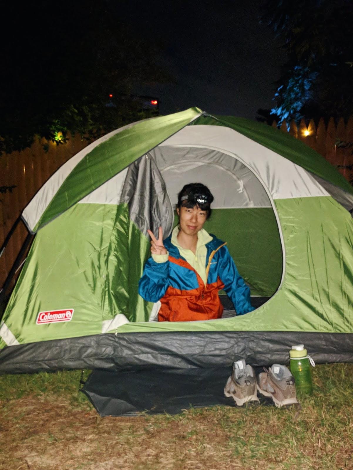camping night shot