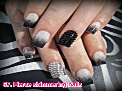 Fierce shimmering nails