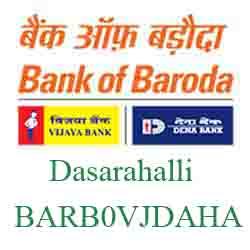 Vijaya Baroda Bank Dasarahalli Branch New IFSC, MICR