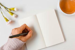 mulher escrevendo e publicando livro