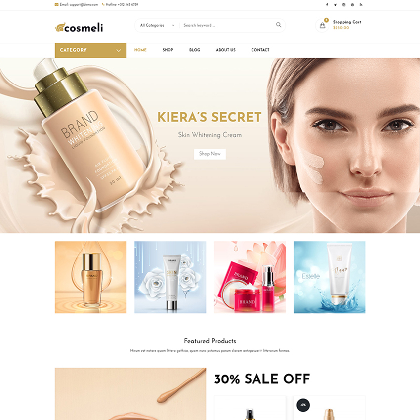 Cosmeli - Cosmetics & Beauty WooCommerce Theme