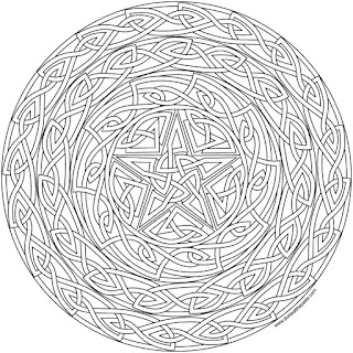 Knotwork shield to print and color- available in jpg and transparent png versions